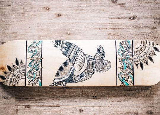 Turtle Design Skate Deck