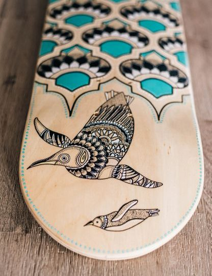 Penguin Design Skate Deck