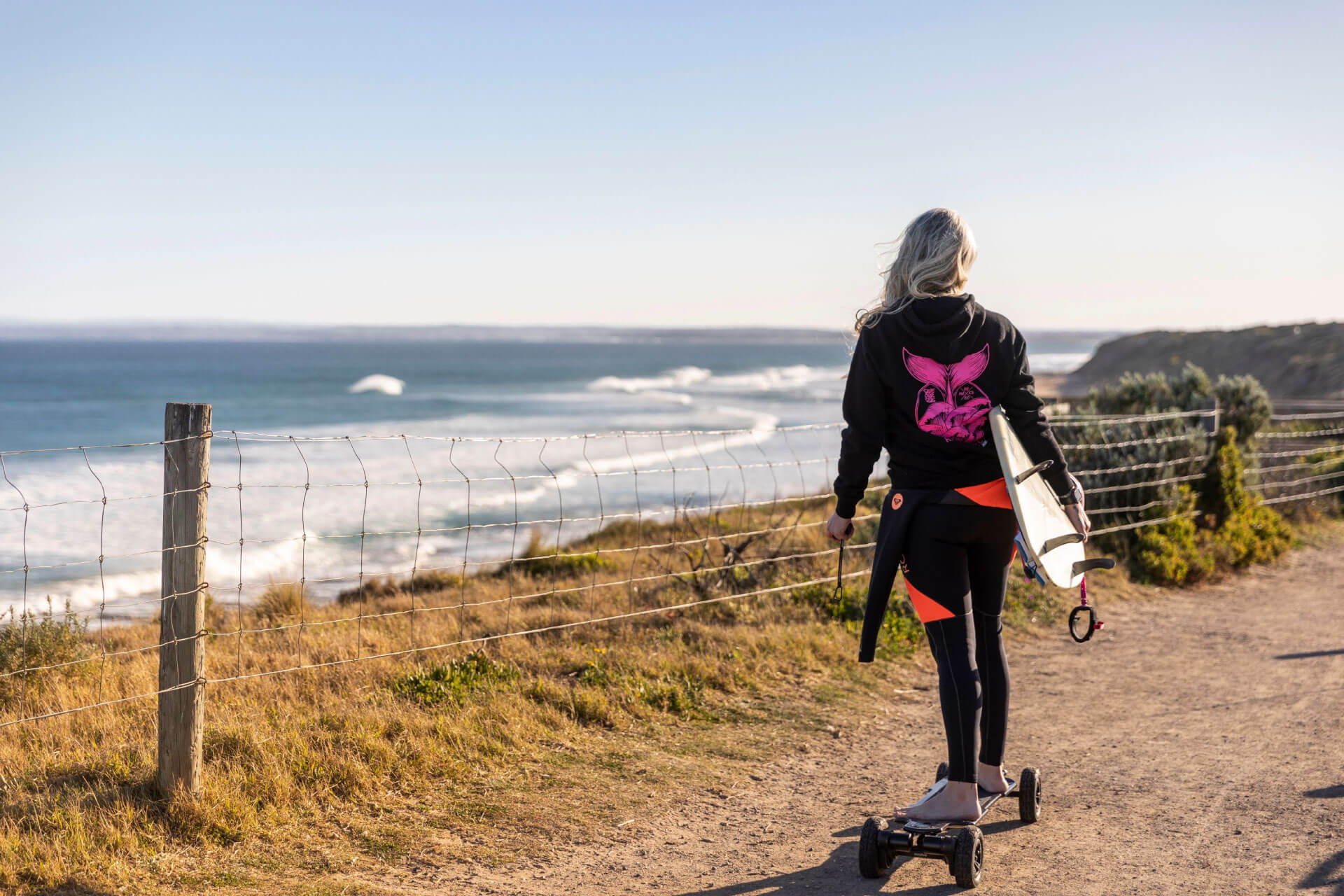 RIPPLE EFFECT the change womens black hoody all funds to ocean conservation