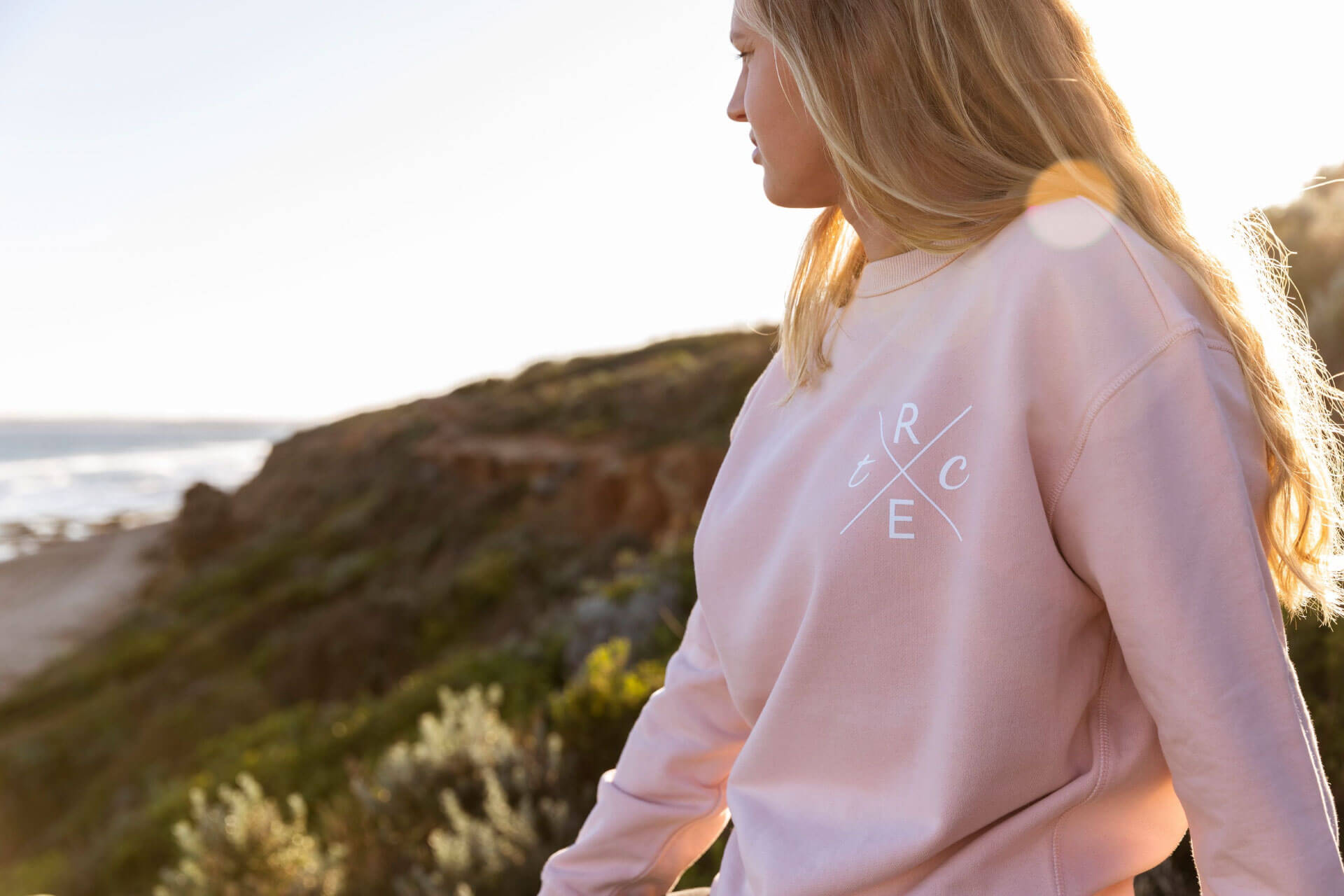 RIPPLE EFFECT the change-womens pink hoody all funds to ocean conservation