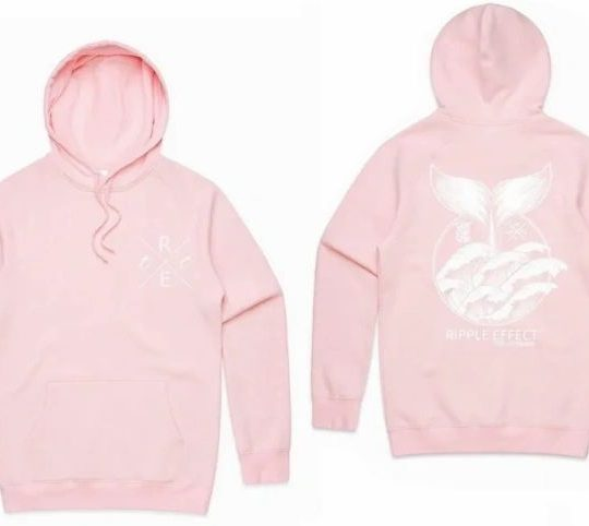 Unisex Save our Seas Hoodie Pink